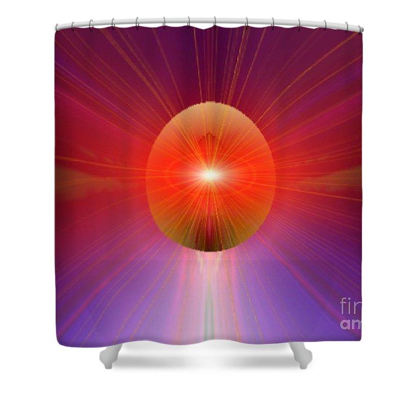 Ki Shower Curtain featuring the digital art Ki Series. 205 V by Oscar Basurto Carbonell