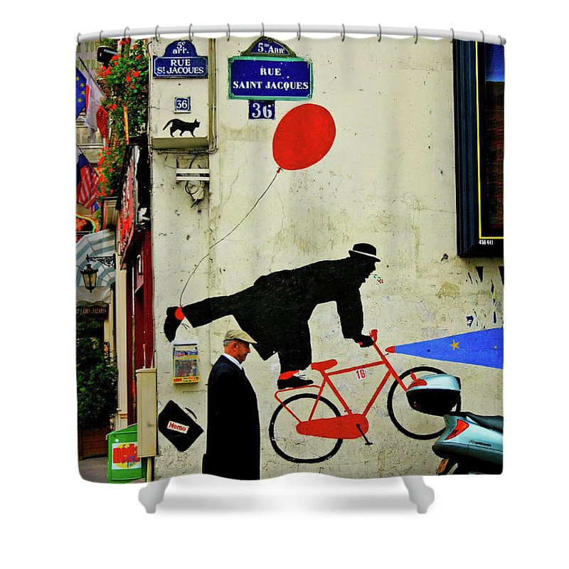Paris Shower Curtain featuring the photograph Kick In The Head by Skip Hunt