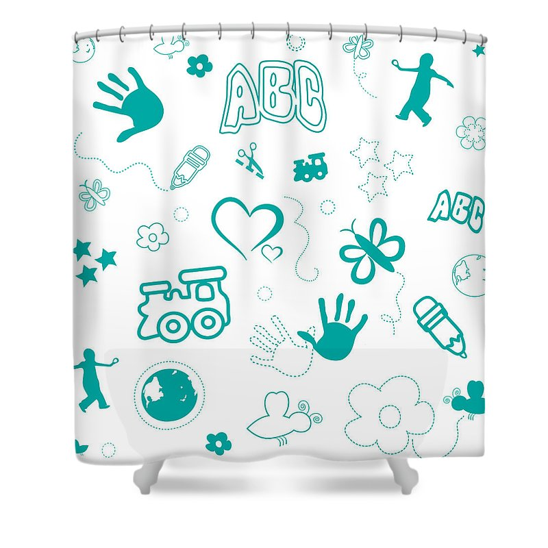 Kids Playful Background Pattern Shower Curtain For Sale By Serena King