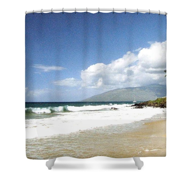1986 Shower Curtain featuring the photograph Kihei by Will Borden