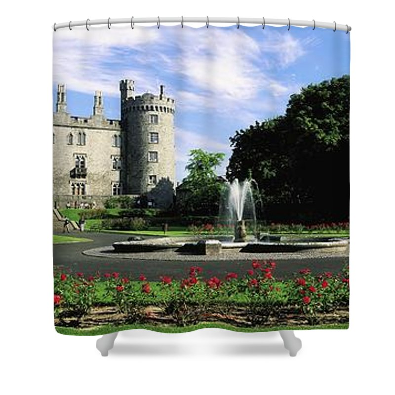 Blooming Shower Curtain featuring the photograph Kilkenny Castle, Co Kilkenny, Ireland by The Irish Image Collection