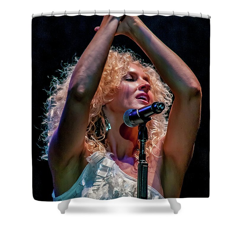 Kimberly Shower Curtain featuring the photograph Kimberly Schlapman by Bill Gallagher