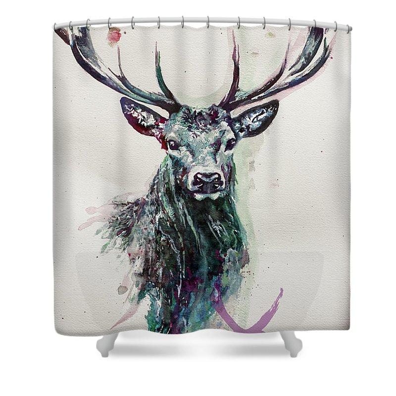 King Deer Shower Curtain For Sale By Ute Bescht