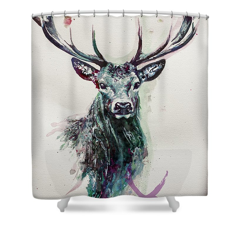 King Deer Shower Curtain For Sale By Ute Bescht