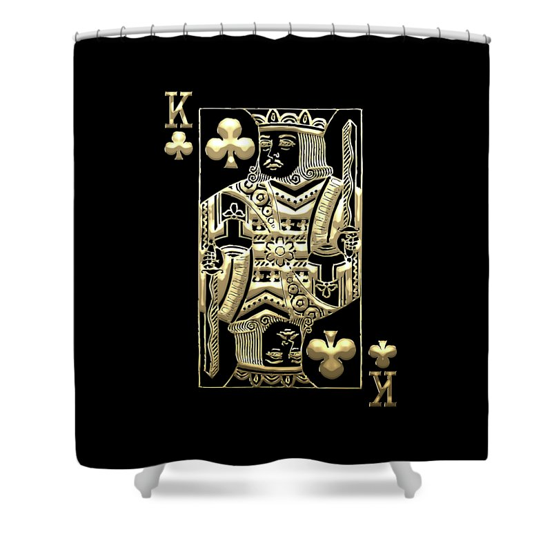 Gamble Collection By Serge Averbukh Shower Curtain Featuring The Digital Art King Of Clubs