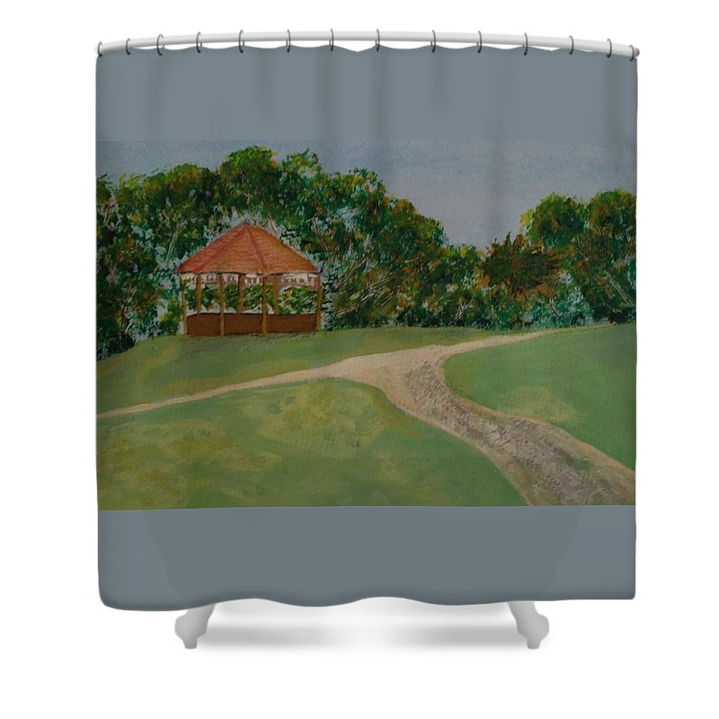 Park Shower Curtain featuring the painting Kingspark by Richard Benson