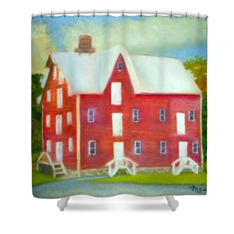 Kirby Mill Shower Curtain featuring the painting Kirby's Mil by Sheila Mashaw