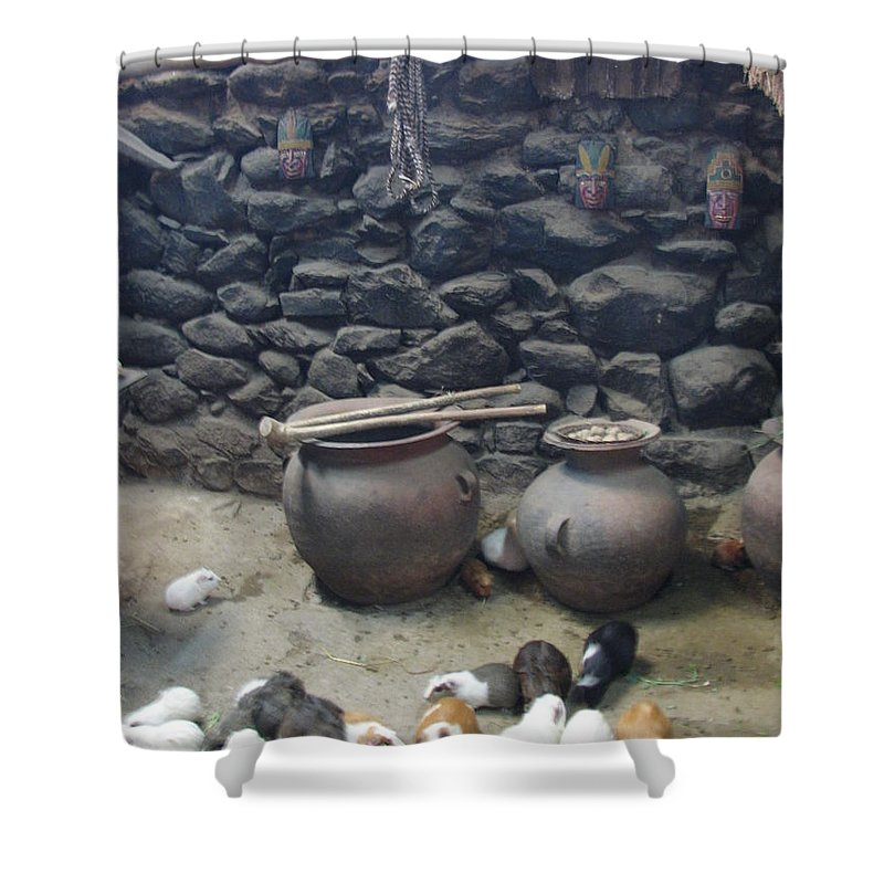 Interior Shower Curtain featuring the photograph Kitchen Livestock by Sandra Bourret