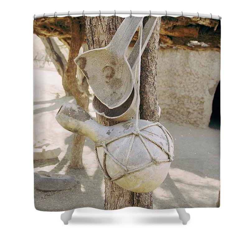 Tumacacori Shower Curtain featuring the photograph Kitchen Utensils by Kathy McClure