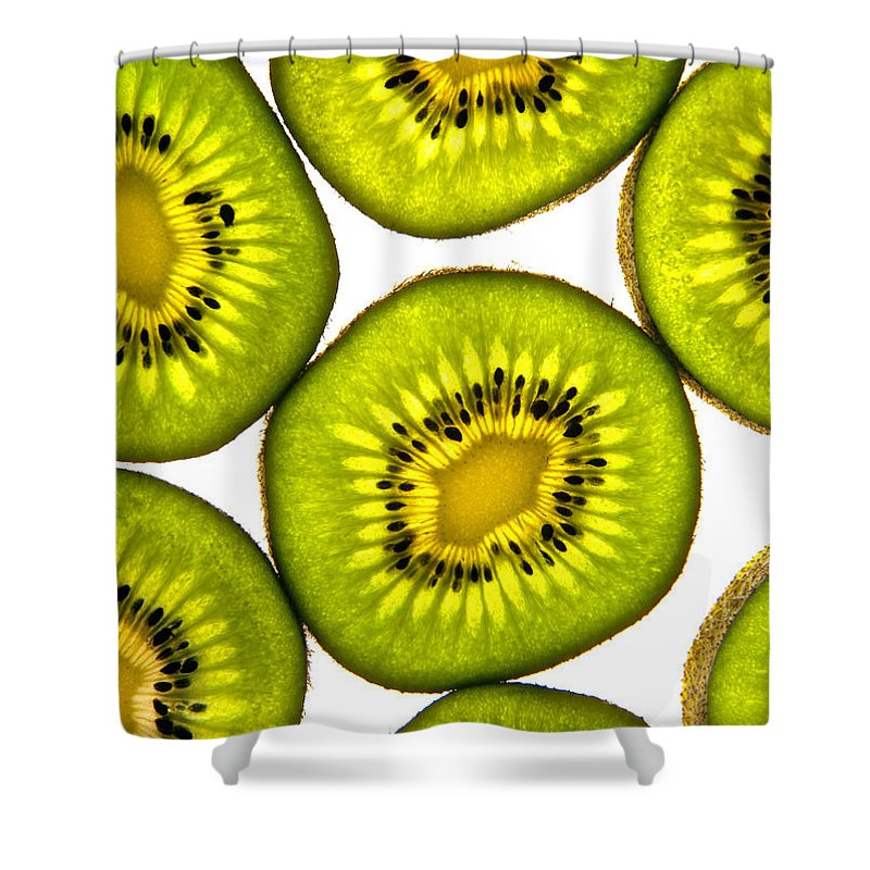 Kiwi Fruit Shower Curtain featuring the photograph Kiwi Fruit by Bruce Stanfield