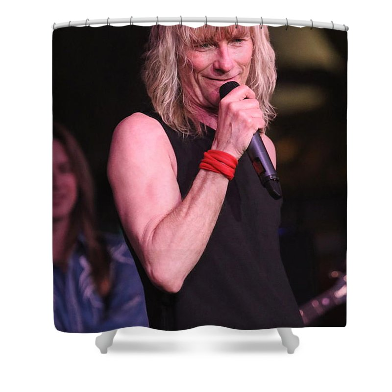 Lead Singer Shower Curtain featuring the photograph Kix - Steve Whiteman by Concert Photos