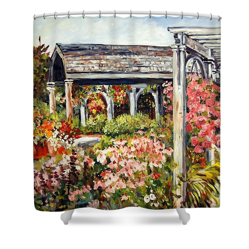 Landscape Shower Curtain featuring the painting Klehm Arboretum I by Alexandra Maria Ethlyn Cheshire