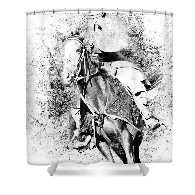 Knight Shower Curtain featuring the photograph Knight With His Horse by Athena Mckinzie
