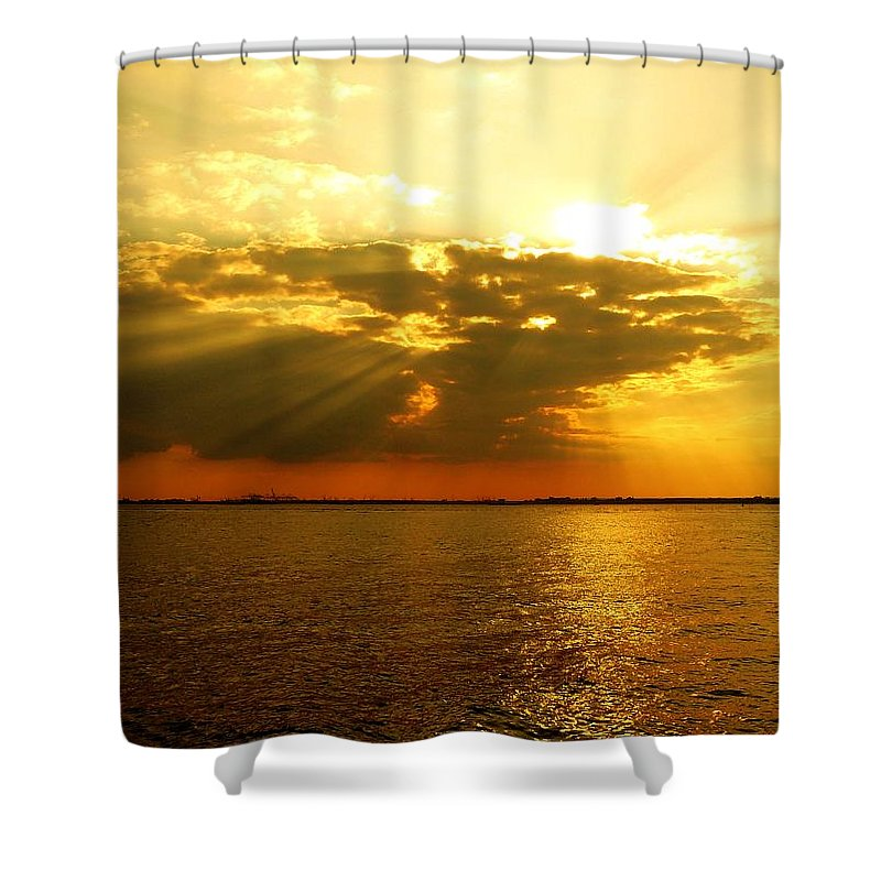 Gold Shower Curtain featuring the photograph Knocking On Heaven's Door by Kendall Eutemey
