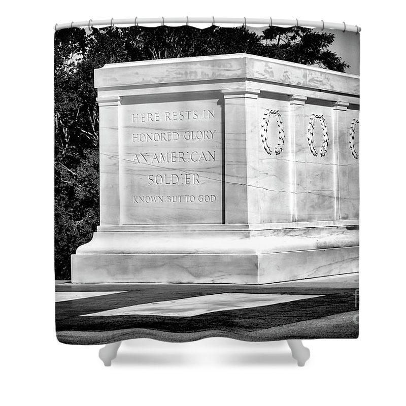Tomb Of The Unknown Shower Curtain featuring the photograph Known But To God by Paul W Faust - Impressions of Light