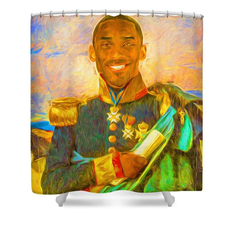 Kobe Bryant Floor General Digital Painting La Lakers Shower ...