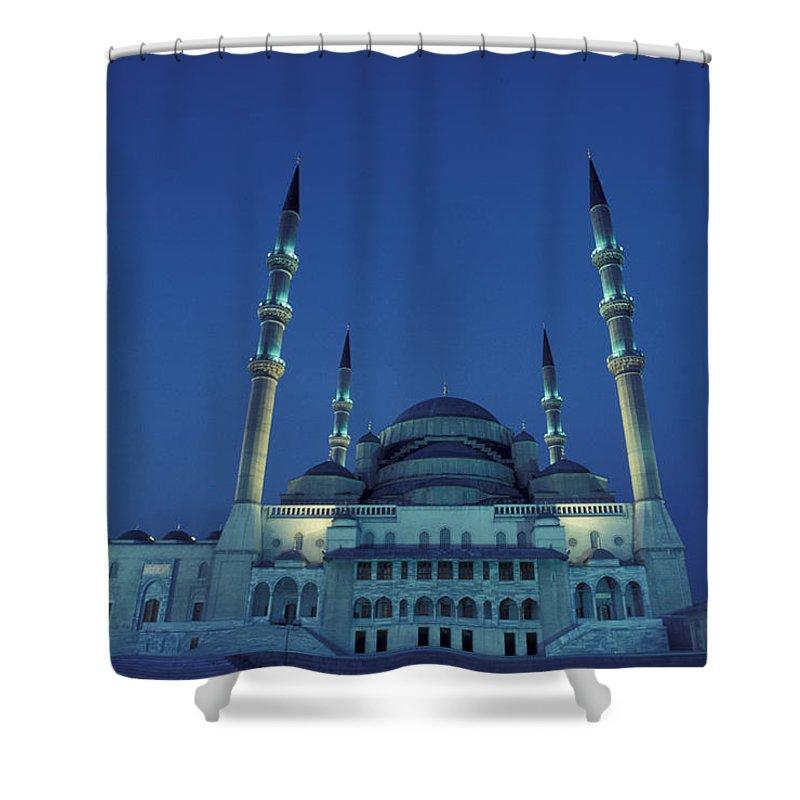 Ankara Shower Curtain featuring the photograph Kocatepe Cami Mosque In Ankara, Turkey by Richard Nowitz