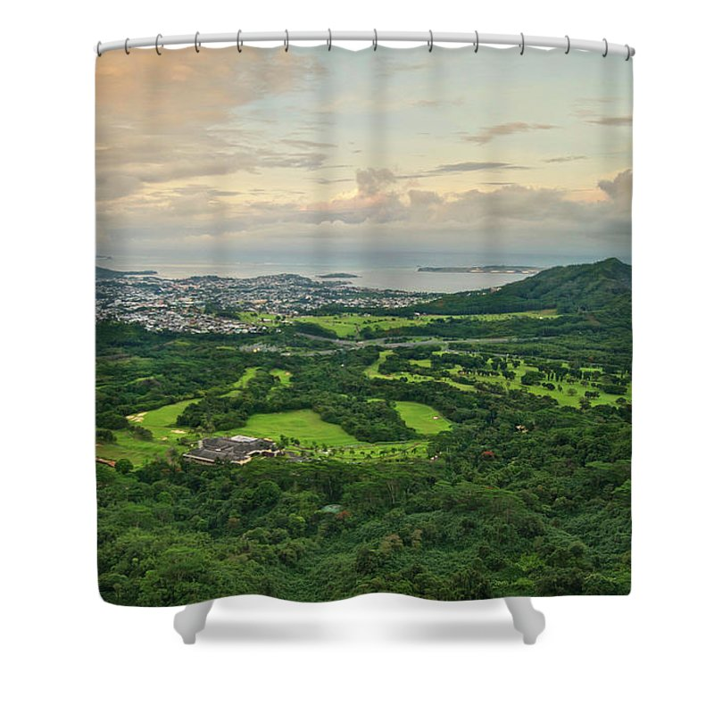 Golf Shower Curtain featuring the photograph Koolau Golf Club by Michael Peychich
