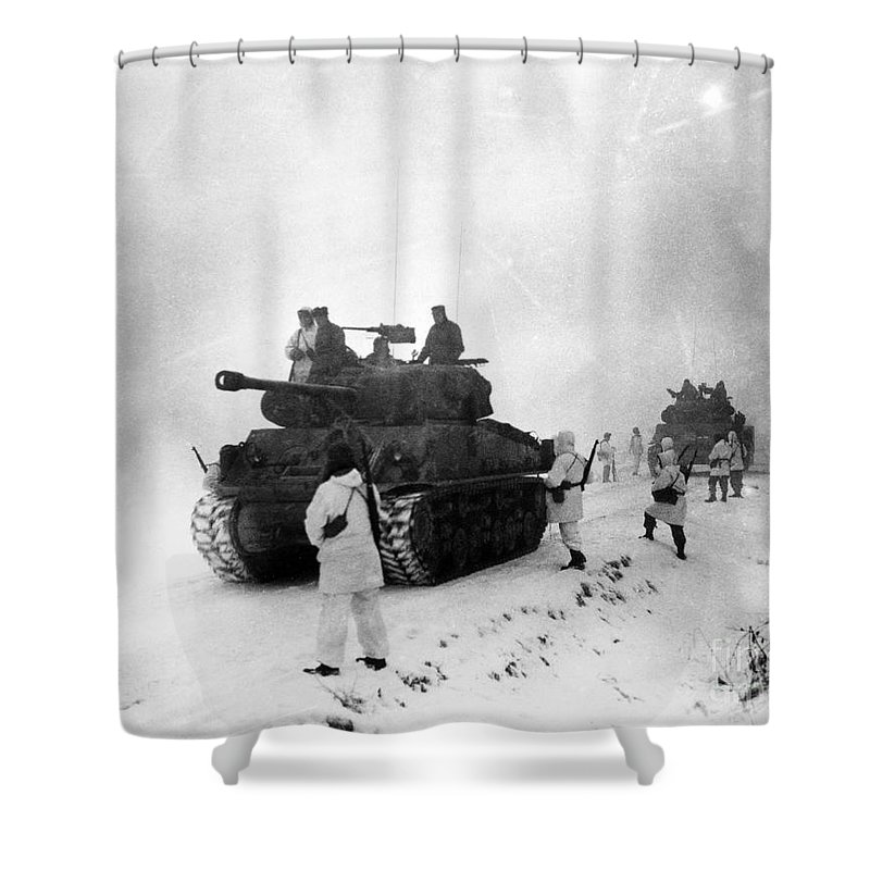 1951 Shower Curtain featuring the photograph Korean War: Allied Forces by Granger