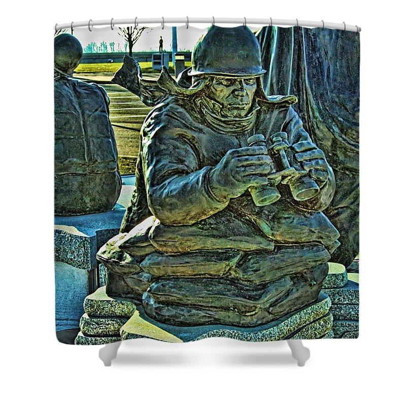 Korean War Memorial Shower Curtain featuring the photograph Korean War Memorial 2 by Tommy Anderson