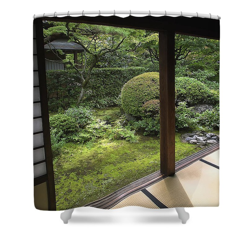 Japan Shower Curtain featuring the photograph Koto-in Zen Temple Side Garden - Kyoto Japan by Daniel Hagerman