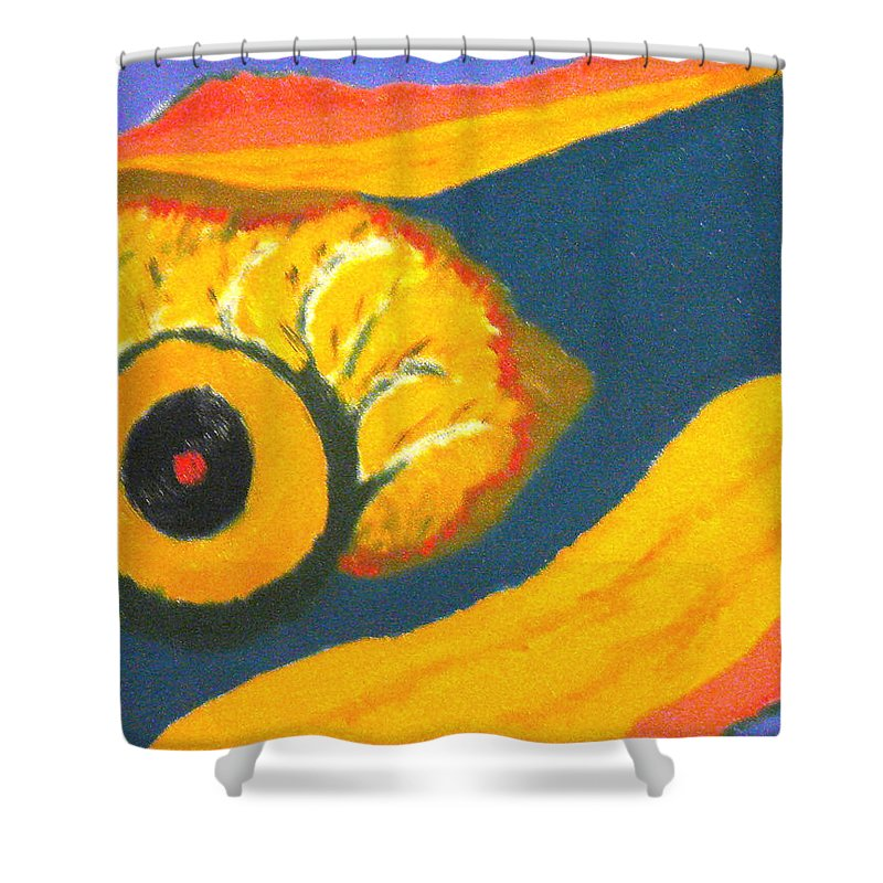 Shower Curtain featuring the painting Krshna by R B