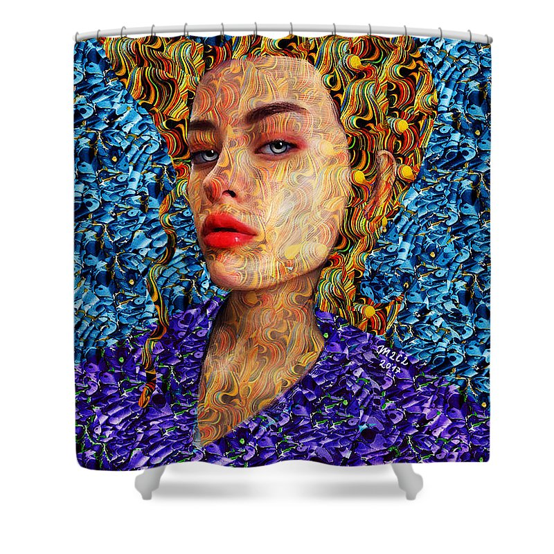 Goddess Shower Curtain featuring the painting Kv 207 by Maciej Mackiewicz