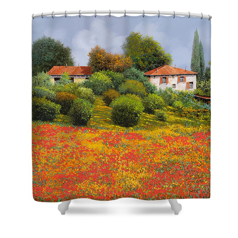 Farms Paintings Shower Curtains