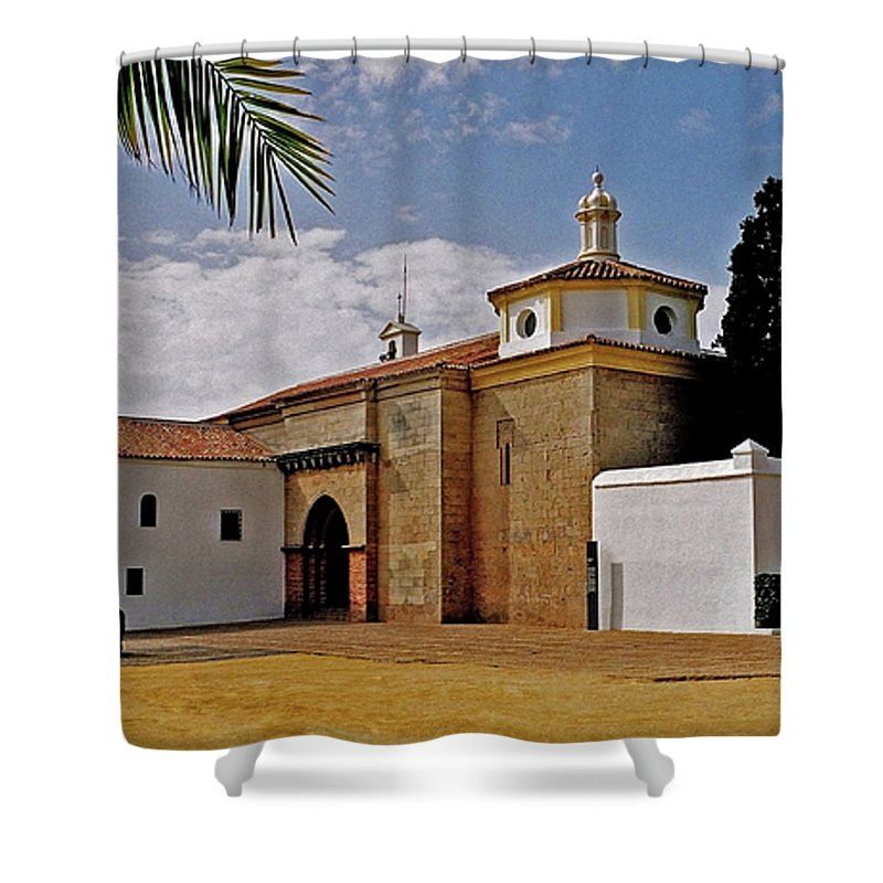 Europe Shower Curtain featuring the photograph La Rabida Monastery - Huelva by Juergen Weiss