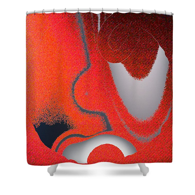 Abstract Shower Curtain featuring the digital art Labremains by Pharris Art