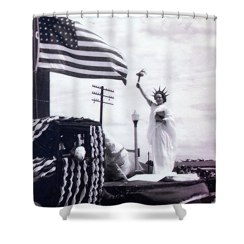 4th Of July Shower Curtain featuring the photograph Lady Liberty by Kurt Hausmann