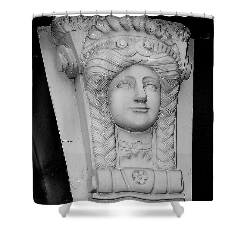 Athlone Shower Curtain featuring the photograph Lady Of The House Athlone Ireland by Teresa Mucha