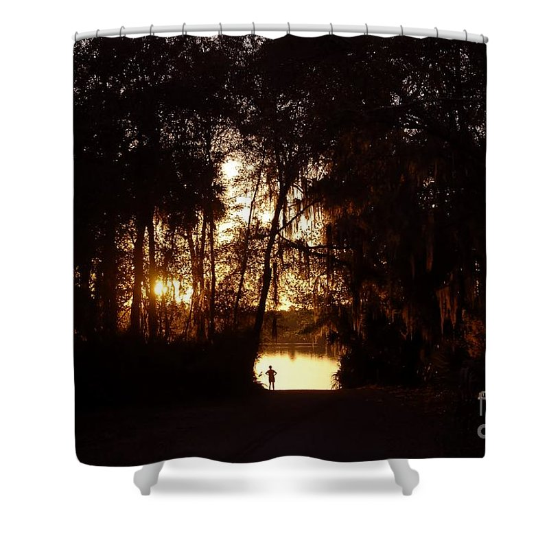 Lake Shower Curtain featuring the photograph Lady Of The Lake by David Lee Thompson
