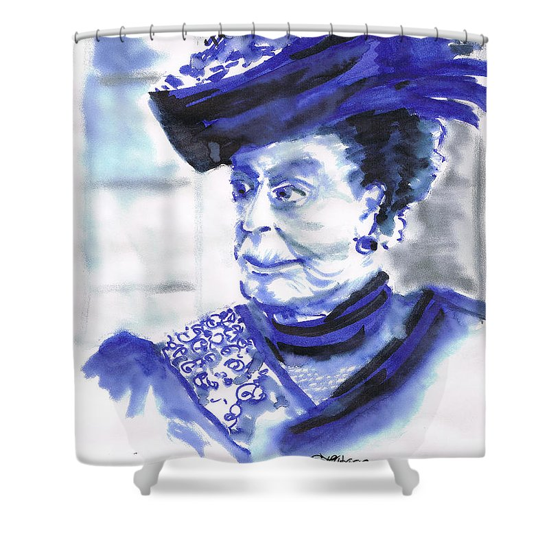 Downton Abbey Mixed Media Shower Curtains
