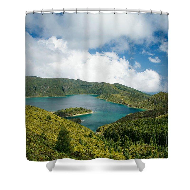 Lagoa Do Fogo Shower Curtain featuring the photograph Lagoa Do Fogo by Gaspar Avila