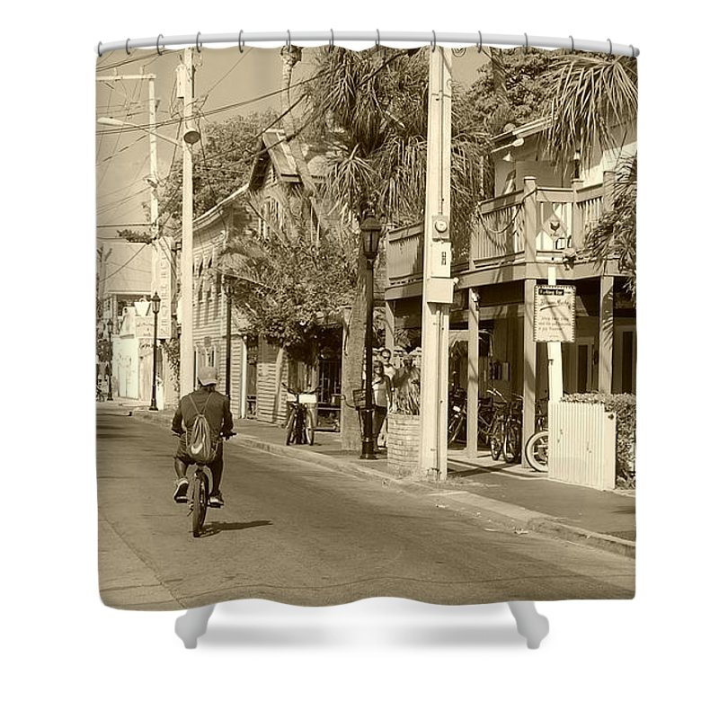 Key West Shower Curtain featuring the photograph Laid Back Key West by Debbi Granruth