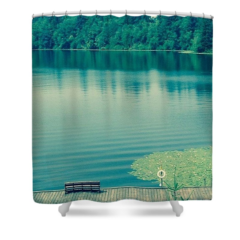 Lake Shower Curtain featuring the photograph Lake by Andrew Redford