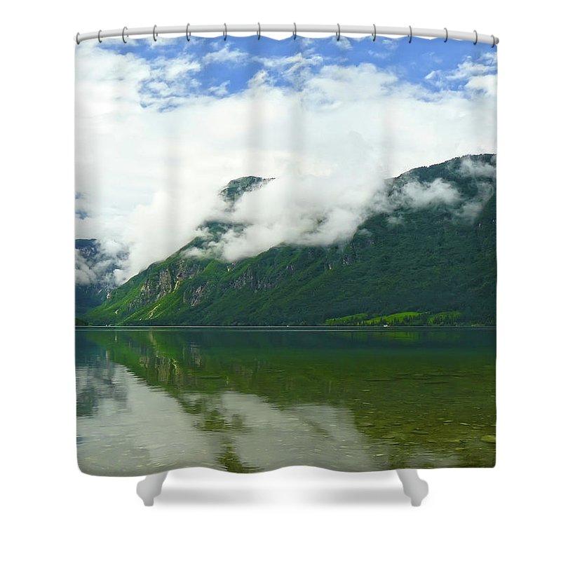 Bohinj Shower Curtain featuring the photograph Lake Bohinj by Daniel Csoka