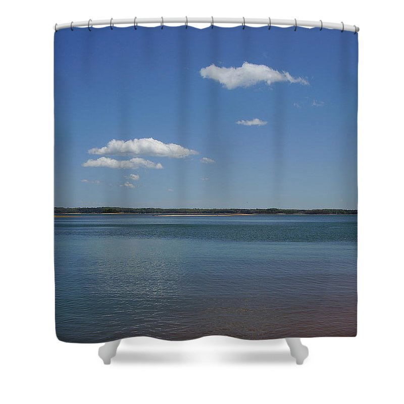 Lake Hartwell Shower Curtain featuring the photograph Lake Hartwell by Flavia Westerwelle