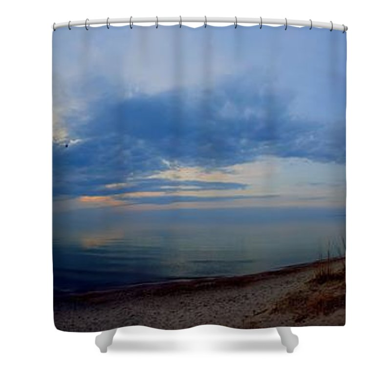 Grand Bend Shower Curtain featuring the photograph Lake Huron Coastline by John Scatcherd