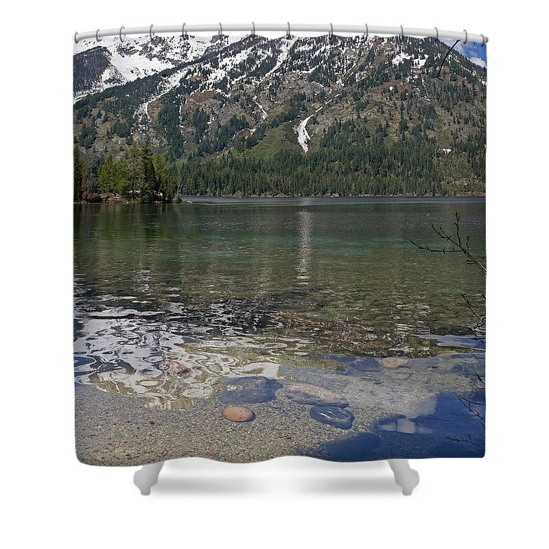 Grand Tetons Shower Curtain featuring the photograph Lake Jenny Grand Tetons by Heather Coen