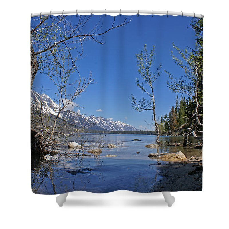 Lake Jenny Shower Curtain featuring the photograph Lake Jenny by Heather Coen