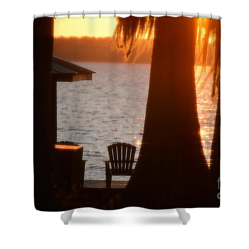 Lake Shower Curtain featuring the photograph Lake Life by Chip Laughton