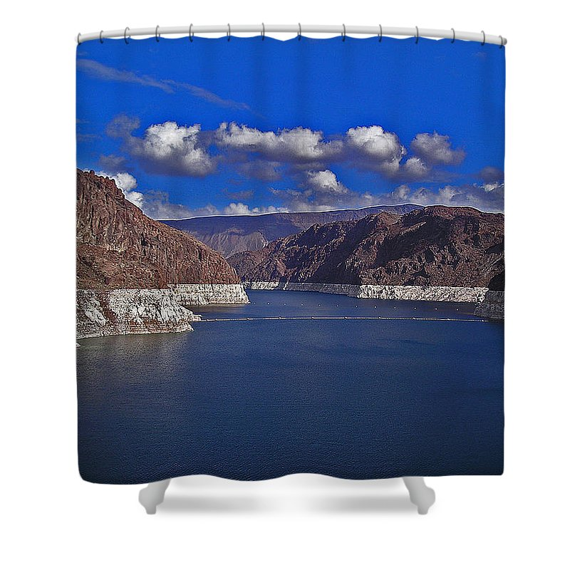 Water Shower Curtain featuring the photograph Lake Mead by David Campbell