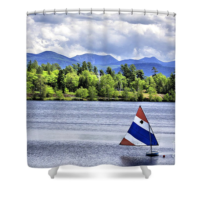 Lakeplacid Shower Curtain featuring the photograph Lake Placid by Deborah Benoit