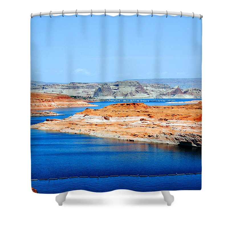 Photography Shower Curtain featuring the photograph Lake Powell by Susanne Van Hulst
