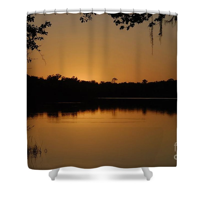 Lake Shower Curtain featuring the photograph Lake Reflections by David Lee Thompson