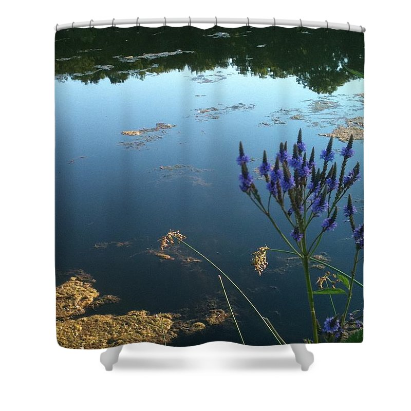 Landscape Shower Curtain featuring the photograph Lake Side by Trish Hale