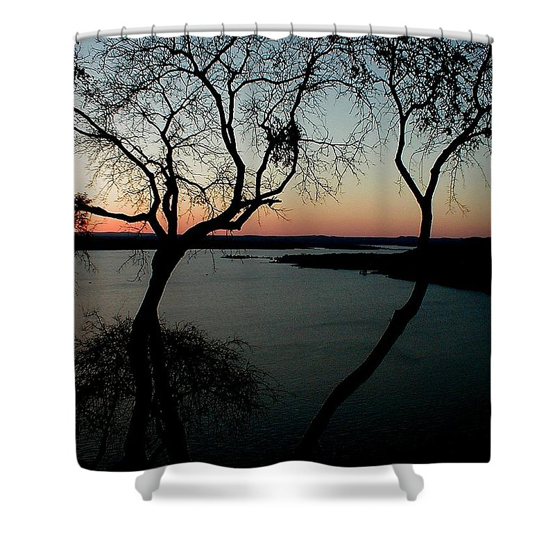 Lake Travis Shower Curtain featuring the photograph Lake Travis by Robert Meanor