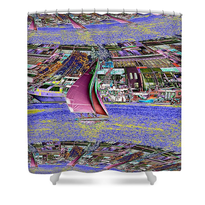 Seattle Shower Curtain featuring the photograph Lake Union Sail by Tim Allen